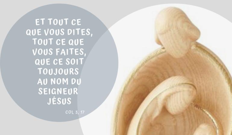 Homélie fête de la Sainte Famille – 29/12/19