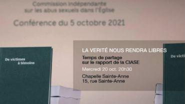 Soirée de partage sur la rapport de la CIASE